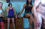 Three Girls Ballbusting