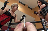 Mistresses Caning Slave