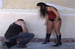 Mistress Slapping Slave